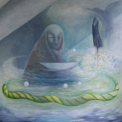 Art Print featuring the painting The Volve Rises Again by Tone Aanderaa