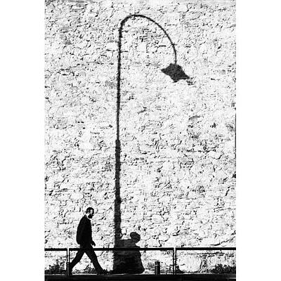 One Wall Art - Photograph - The Walk Of Life..#italy #bw by A Rey