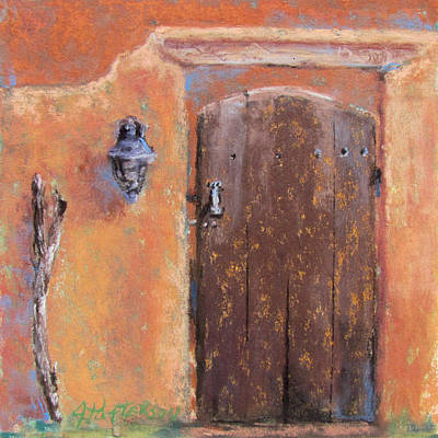 Southwest Gate Painting - The Walking Stick by Julia Patterson