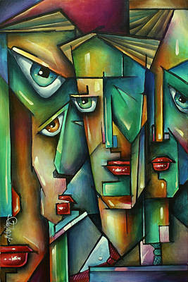 Banker Painting - The Wall by Michael Lang