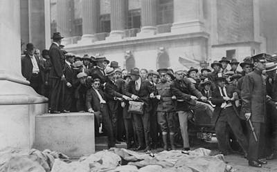 The Wall Street Bombing. Soldiers Art Print