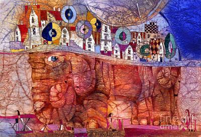 The Wandering Elephant Art Print