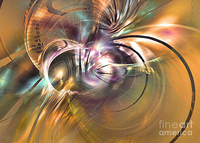 Colorful Abstract Algorithmic Contemporary Digital Art - The Warm Quiet Moment by Sipo Liimatainen