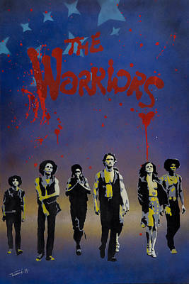 Spraypaint Painting - The Warriors by Tai Taeoalii
