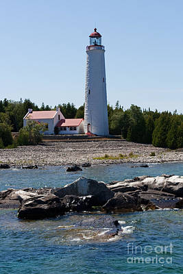 Lighthouse Photograph - The Watcher by Barbara McMahon