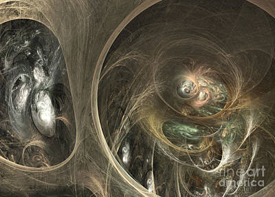 Colorful Abstract Algorithmic Contemporary Digital Art - The Watcher Of Two Worlds by Sipo Liimatainen
