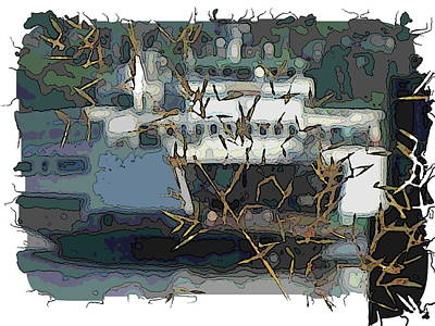 Sound Digital Art - The Water Limo Arrives by Tim Allen