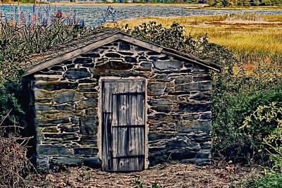 Autumn Scene Photograph - The Water Shed Bristol Rhode Island by Tom Prendergast
