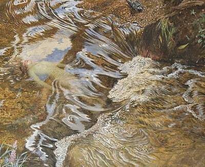 On Paper Painting - The Water Sprite by JBL Shaw