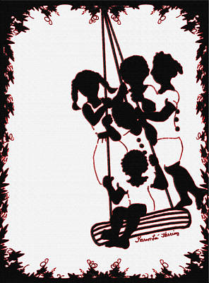 Girl On A Swing Painting - The Watering Hole by Karen-Lee