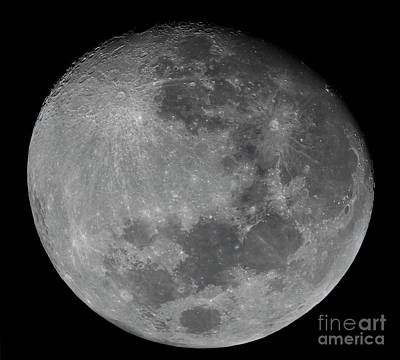 The Waxing Gibbous Moon In A High Print by Luis Argerich