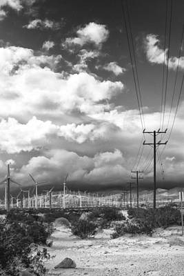 Telephone Poles Photograph - The Way Of The Wind Palm Springs by William Dey