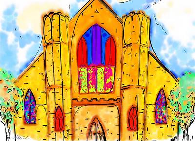 Drawing - The Wedding Chapel by Alec Drake