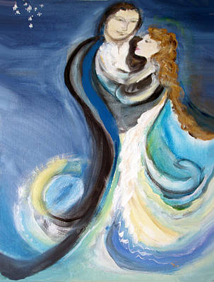 The Wedding Art Print by Ginna Viveros