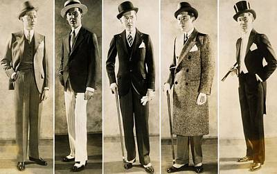 The Well Dressed Mans Wardrobe In 1929 Art Print by Everett