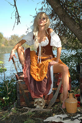 Pirate Wench Photograph - The Wench by Liezel Rubin