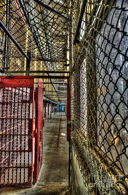The West Virginia State Penitentiary Cell Hallway Art Print by Dan Friend