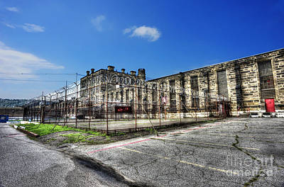 Photograph - The West Virginia State Penitentiary Courtyard Outside by Dan Friend