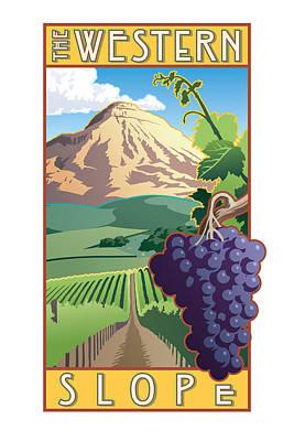 Purple Grapes Digital Art - The Western Slope by Steven Schader