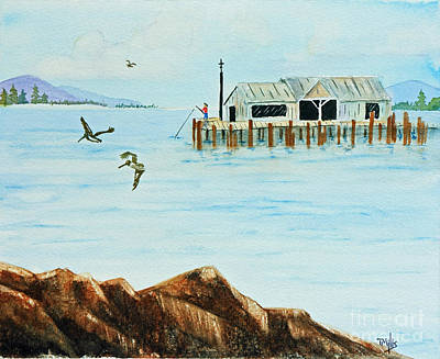 Painting - The Wharf by Terri Mills