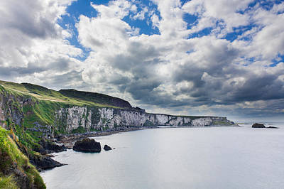 Photograph - The White Cliffs Of Carrick A Rede by Semmick Photo