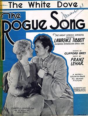 Old Sheet Music Photograph - The White Dove by Mel Thompson