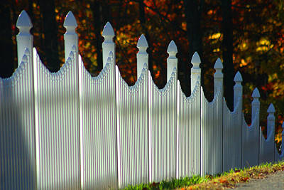 Photograph - The White Fence by Emanuel Tanjala