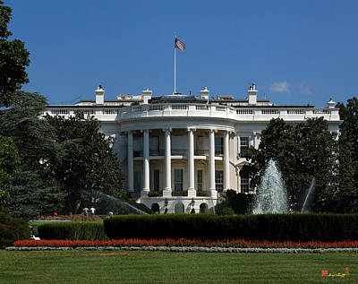 Photograph - The White House In Summer Ds050 by Gerry Gantt