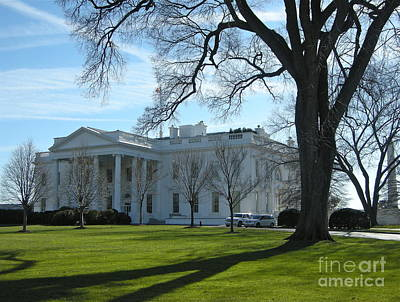 Art Print featuring the photograph The White House by Victoria Lakes