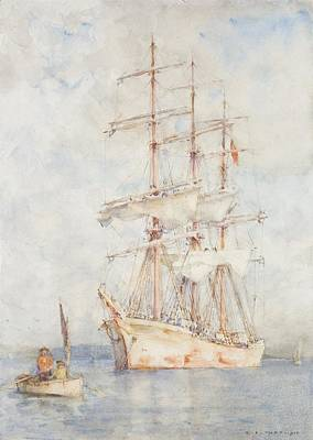 Boars Painting - The White Ship by Henry Scott Tuke