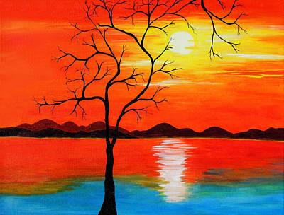 Painting - The White Sun by Farah Faizal