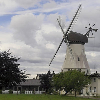 Old Mill Scenes Photograph - The White Windmill by Heiko Koehrer-Wagner
