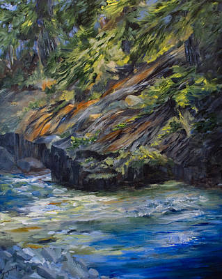 Edge Painting - The Whiteshell Shoreline by Joanne Smoley