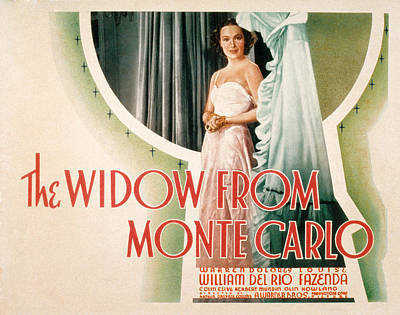 The Widow From Monte Carlo, Dolores Del Art Print by Everett