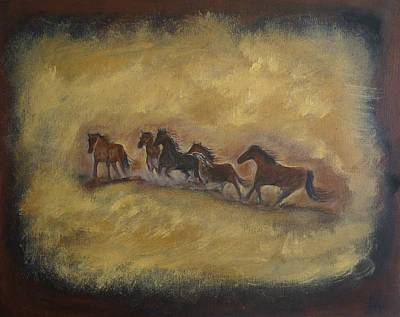 Painting - The Wild And Free Ones by Leslie Allen