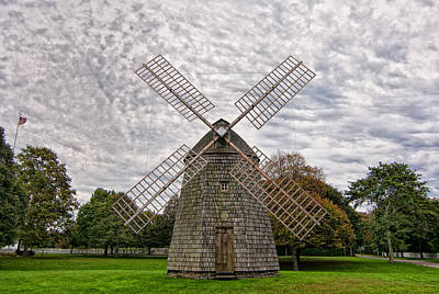 East Hampton Photograph - The Windmill In East Hampton by Linda Pulvermacher