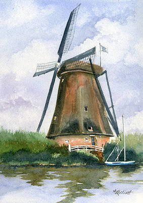 The Windmills Of Your Mind Art Print by Marsha Elliott