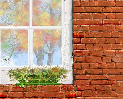 The Window Triptych Fall Art Print by Jim Hubbard