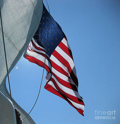 Photograph - The Windy Flag by Sonia Flores Ruiz