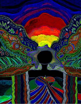 Wall Art - Digital Art - The Winged Goddess by Lori Kirstein