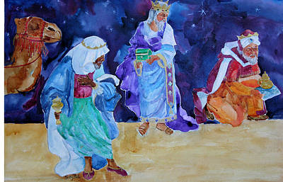 The Wisemen Art Print by Suzy Pal Powell
