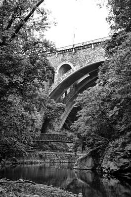 The Wissahickon Creek And Henry Avenue Bridge Print by Bill Cannon