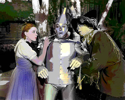 Midget Mixed Media - The Wizard Of Oz by Charles Shoup