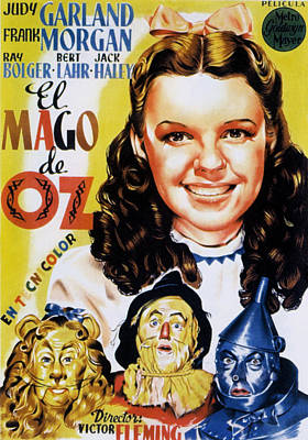 Postv Photograph - The Wizard Of Oz, Spanish Movie Poster by Everett