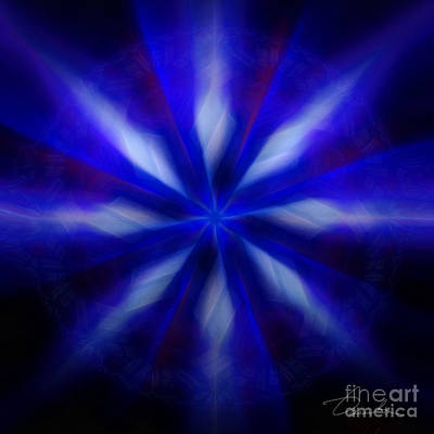 Digital Art - The Wizards Streams by Danuta Bennett