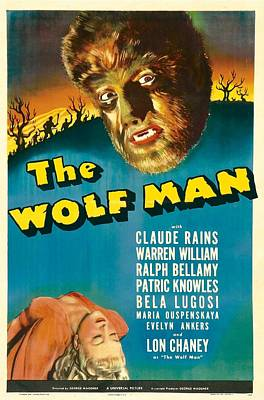 The Wolf Man, Evelyn Ankers, Lon Art Print by Everett