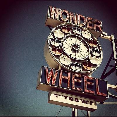 Old Wall Art - Photograph - The Wonder Wheel. #coneyisland #nyc by Luke Kingma