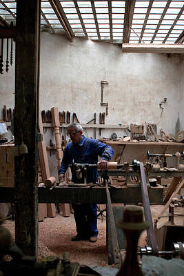 Photograph - The Woodworker Studio by Lorraine Devon Wilke