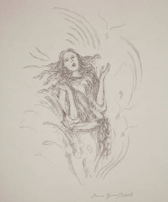 Spiritual Energy Art Drawing - The Word by Bruce Zboray