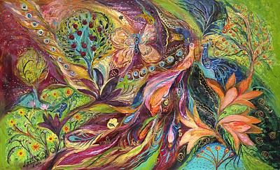 The World Of Lilies ...... The Original Can Be Purchased Directly From Www.elenakotliarker.com Art Print by Elena Kotliarker